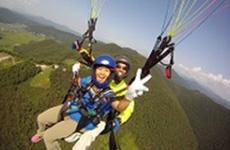 パラグライダー体験 (二人乗り空中写真撮影付)