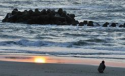 湯野浜の夕日