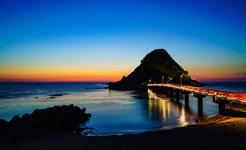 白山島の夕暮れ
